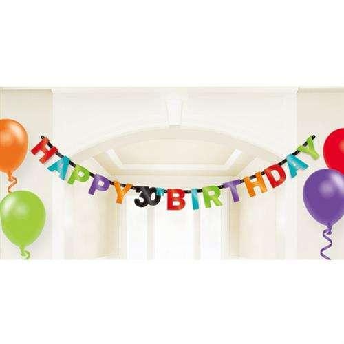 Baner Napis Na 30 Urodziny 213 Cm 1 Szt Akcesoria Dekoracyjne