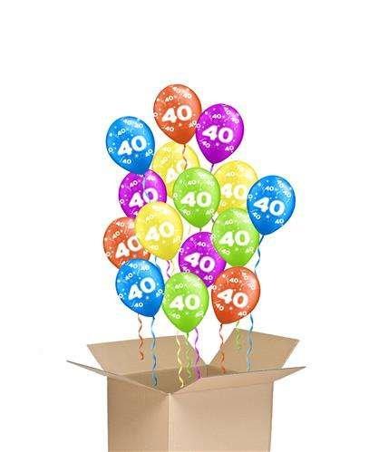 Bukiet Balonów Z Helem Na 40 Urodziny 40 Tytuł Sklepu Zmienisz
