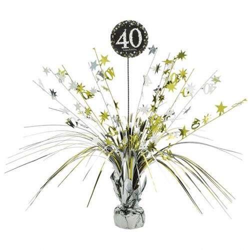 Dekoracja Na Stół 40 Urodziny 46cm 1 Szt Akcesoria Dekoracyjne