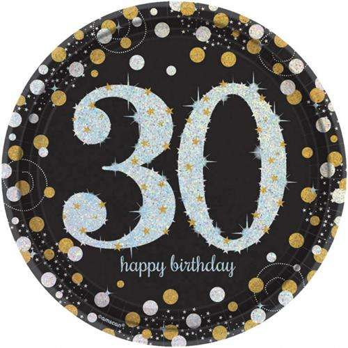 Talerzyki Papierowe Na 30 Urodziny 23 Cm 8 Szt Akcesoria