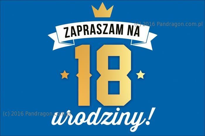 Zaproszenie 18 Urodziny 1 Szt Akcesoria Dekoracyjne