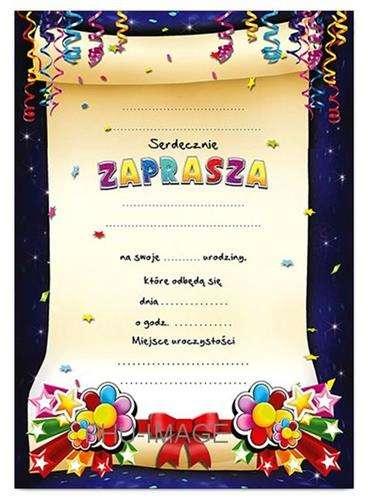 Zaproszenie Urodzinowe 1 Szt Akcesoria Dekoracyjne Zaproszenia
